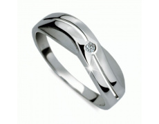 Briliantový prsten Danfil DF1562, materiál bílé zlato 585/1000, 1x briliant SI1/G = 0.025 ct, váha: