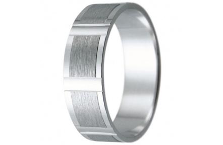 Snubní prsteny kolekce HARMONY11, materiál bílé zlato 585/1000, váha: u velikosti 54mm - 4.10g