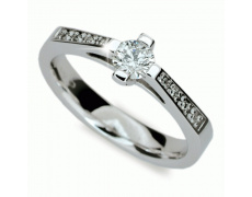 Briliantový prsten Danfil DF1962, materiál bílé zlato 585/1000, 9x briliant SI1/G = 0.516 ct, váha: