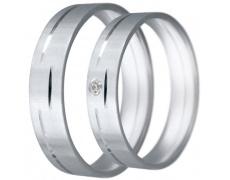 Snubní prsteny kolekce CLAUDIA13, materiál bílé zlato 585/1000, zirkon, váha: u velikosti 54mm - 4.8