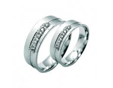 Snubní prsteny Lucie Gold Charlotte S-200, materiál bílé zlato 585/1000, zirkon, váha: průměrná 10.0