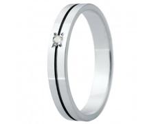 Snubní prsteny kolekce ELISKA_31, materiál bílé zlato 585/1000, ruthenium, zirkon, váha: u velikosti