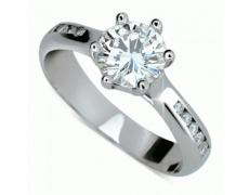 Briliantový prsten Danfil DF1886, materiál bílé zlato 585/1000, 11x briliant SI1/G = 1.300 ct, váha: