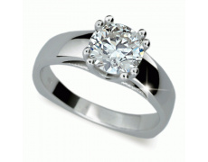 Briliantový prsten Danfil DF1888, materiál bílé zlato 585/1000, 1x briliant SI1/G = 1.010 ct, váha: