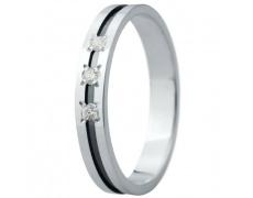 Snubní prsteny kolekce ELISKA_29, materiál bílé zlato 585/1000, ruthenium, zirkon, váha: u velikosti