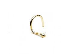 Zlatý piercing Hrot ZPN014, materiál 14-ti karátové žluté zlato, váha: 0.16g