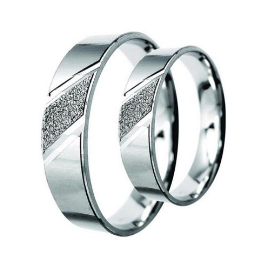 Snubní prsteny Lucie Gold Charlotte S-104, materiál bílé zlato 585/1000, váha: průměrná 6.50g