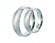 Snubní prsteny Lucie Gold Charlotte S_162, materiál bílé zlato 585/1000, váha: průměrná 8.90g