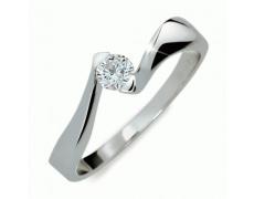 Briliantový prsten Danfil DF1856, materiál bílé zlato 585/1000, 1x briliant SI1/G = 0.200 ct, váha:
