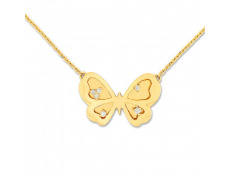 Zlatý náhrdelník Cacharel XB503JB3, materiál žluté zlato 585/1000, diamant-0.08 ct, váha: 5.90g