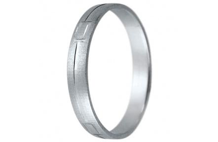 Snubní prsteny kolekce K8, materiál bílé zlato 585/1000 , váha: u velikosti 54mm - 2.20g