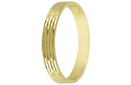 Snubní prsteny kolekce SP3-H, materiál žluté zlato 585/1000 , váha: u velikosti 54mm - 2.40g
