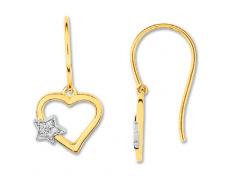 Zlaté náušnice Cacharel XE309XB3, materiál bílé zlato 585/1000, diamant-0.04 ct, váha: 1.60g