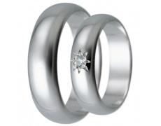 Snubní prsteny kolekce HARMONY31, materiál bílé zlato 585/1000, zirkon, váha: u velikosti 54mm - 6.5