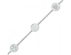 Stříbrný náramek Cacharel CSB139Z18, materiál stříbro 925/1000, zirkon, váha: 5.40g