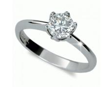 Briliantový prsten Danfil DF1959, materiál bílé zlato 585/1000, 1x briliant SI1/G = 1.000 ct, váha: