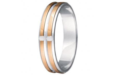 Snubní prsteny kolekce VIOLA_16-L, materiál červené, bílé zlato 585/1000, váha: u velikosti 54mm - 3