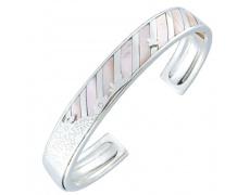 Stříbrný náramek Cacharel CMB203P, materiál stříbro 925/1000, perleť, váha: 26.00g