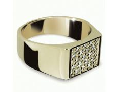 Briliantový prsten Danfil DF2070Z, materiál žluté zlato 585/1000, 23x briliant SI1/G = 0.655 ct, váh
