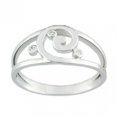 Zlatý prsten Cacharel XY001GB3, materiál bílé zlato 585/1000, diamant-0.03 ct, váha: 3.50g