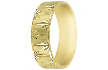 Snubní prsteny kolekce SP6-F, materiál žluté zlato 585/1000 , váha: u velikosti 54mm - 4.50g