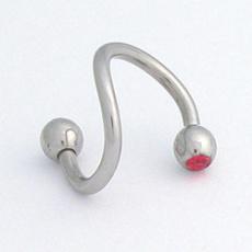 Piercing spirála s kamínkem XSC 3/1 C