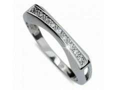 Briliantový prsten Danfil DF2007, materiál bílé zlato 585/1000, 8x briliant SI1/G = 0.104 ct, váha: