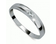 Briliantový prsten Danfil DF1617, materiál bílé zlato 585/1000, 1x briliant SI1/G = 0.031 ct, váha: