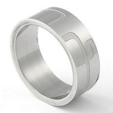 Prsten z chirurgické oceli RSLW18