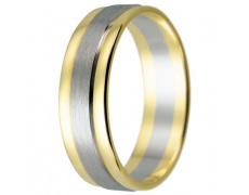 Snubní prsteny kolekce HARMONY14, materiál bílé, žluté zlato 585/1000, váha: u velikosti 54mm - 4.40