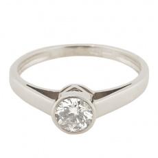 Zlatý Prsten Soliter 224 00834 07, materiál bílé zlato 585/1000, 1x briliant = 0.379 ct, váha: 1.65g