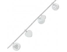 Stříbrný náramek Cacharel CMB138HZ8, materiál stříbro 925/1000, zirkon, perleť, váha: 7.70g