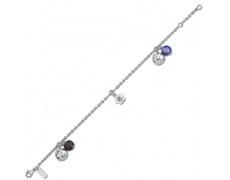 Stříbrný náramek Cacharel CWB233QZ6, materiál stříbro 925/1000, kouřový křemen, váha: 6.70g