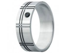 Snubní prsteny kolekce ELISKA_02, materiál bílé zlato 585/1000, ruthenium, zirkon, váha: u velikosti