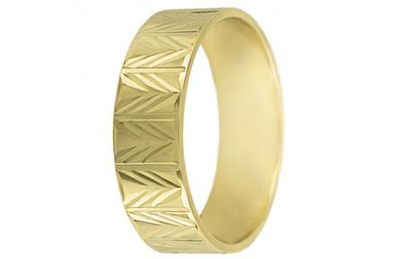 Snubní prsteny kolekce SP6-C, materiál žluté zlato 585/1000 , váha: u velikosti 54mm - 4.50g