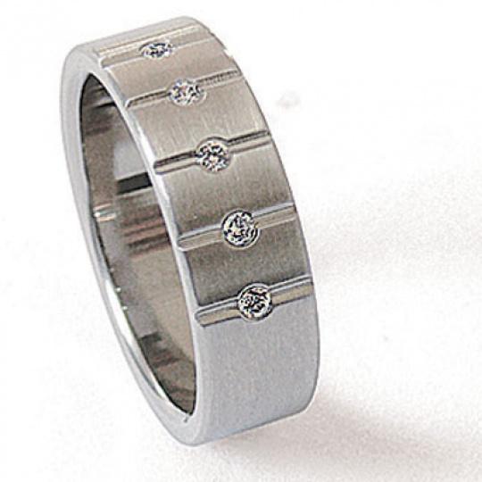 Prsten z chirurgické oceli 06009