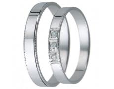 Snubní prsteny kolekce D24, materiál bílé zlato 585/1000, zirkon , váha: u velikosti 54mm - 2.40g