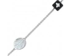 Stříbrný náramek Cacharel CWB145NM8, materiál stříbro 925/1000, dřevo, váha: 3.90g