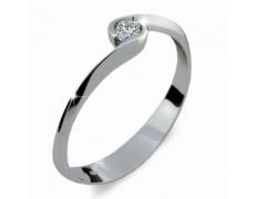 Briliantový prsten Danfil DF1914, materiál bílé zlato 585/1000, 1x  briliant SI1/G = 0.112 ct, váha: