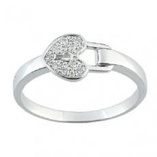 Zlatý prsten Cacharel XD008GB3, materiál bílé zlato 585/1000, diamant-0.05 ct, váha: 2.80g