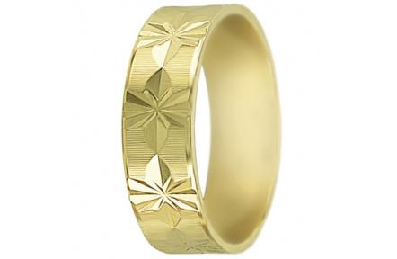 Snubní prsteny kolekce SP6-A, materiál žluté zlato 585/1000 , váha: u velikosti 54mm - 4.50g