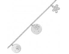 Stříbrný náramek Cacharel CSB121Z18, materiál stříbro 925/1000, zirkon, váha: 6.30g