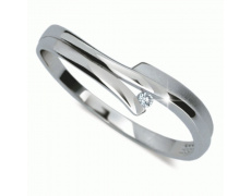 Briliantový prsten Danfil DF2000, materiál bílé zlato 585/1000, 1x briliant SI1/G = 0.014 ct, váha: