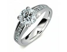 Briliantový prsten Danfil DF2088, materiál bílé zlato 585/1000, 11x briliant SI1/G = 1.790 ct, váha: