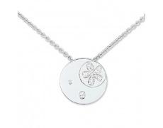 Stříbrný náhrdelník Cacharel CSC121Z42, materiál stříbro 925/1000, zirkon, váha: 6.10g