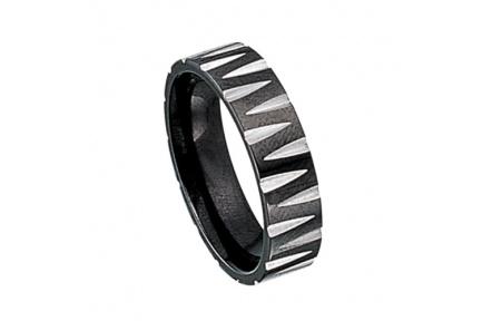 Prsten z chirurgické oceli RSS329-BLACK