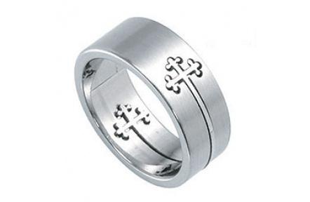 Prsten z chirurgické oceli RSSO303