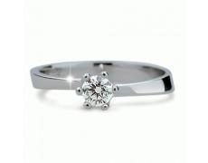 Briliantový prsten Danfil DF1960, materiál bílé zlato 585/1000, 1x briliant SI1/G = 0.260 ct, váha: