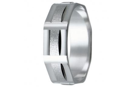 Snubní prsteny kolekce HARMONY10, materiál bílé zlato 585/1000, váha: u velikosti 54mm - 3.40g