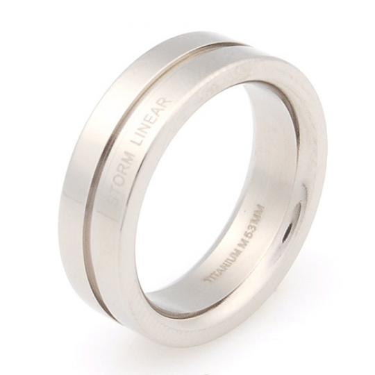 Titanový prsten Storm Linear